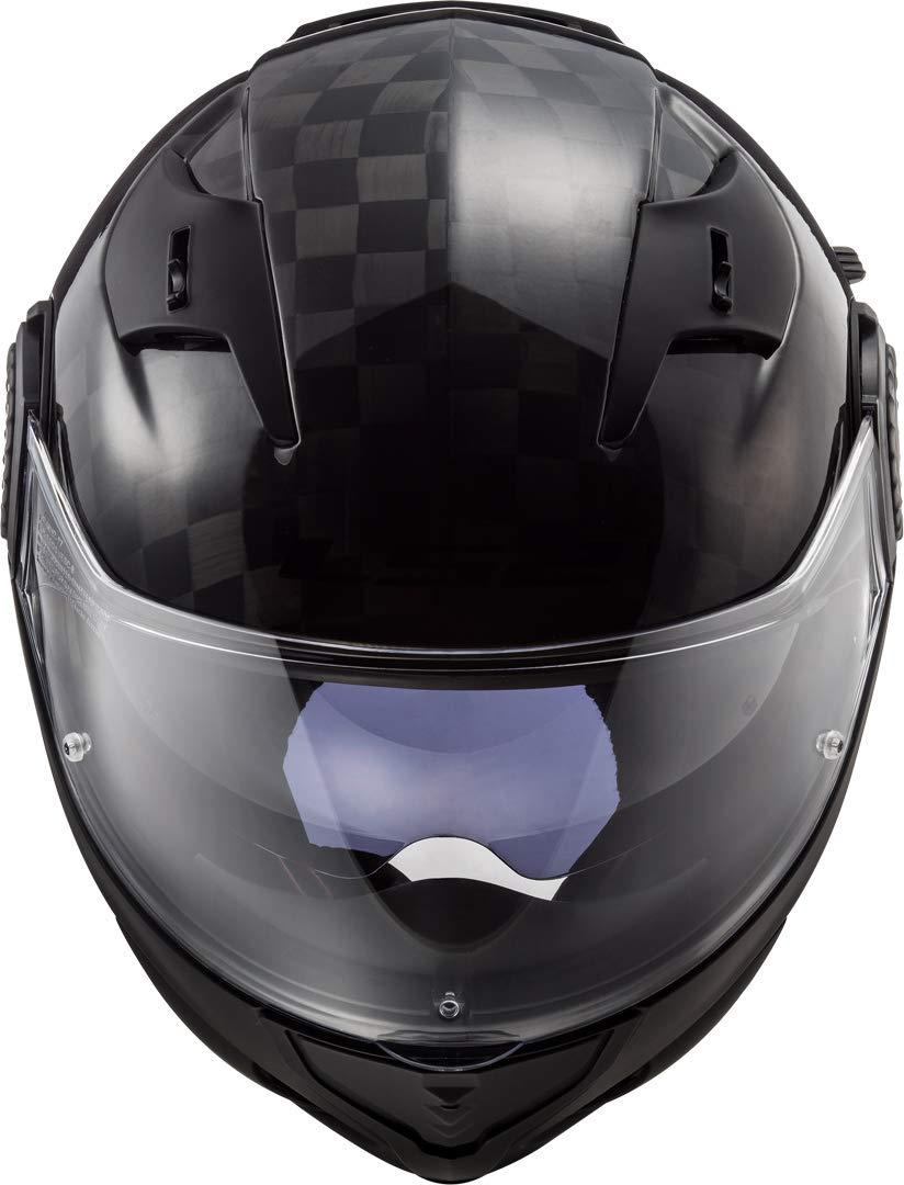 LS2 Casco Convertible Moto 2019 Ff313 Vortex Solid Carbon S, Gris