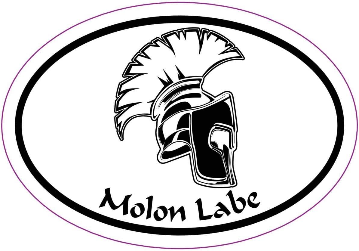 Perfect 2nd Amendment Supporter Gift Patriotic Bumper Sticker WickedGoodz White Molon Labe Vinyl Decal Transfer