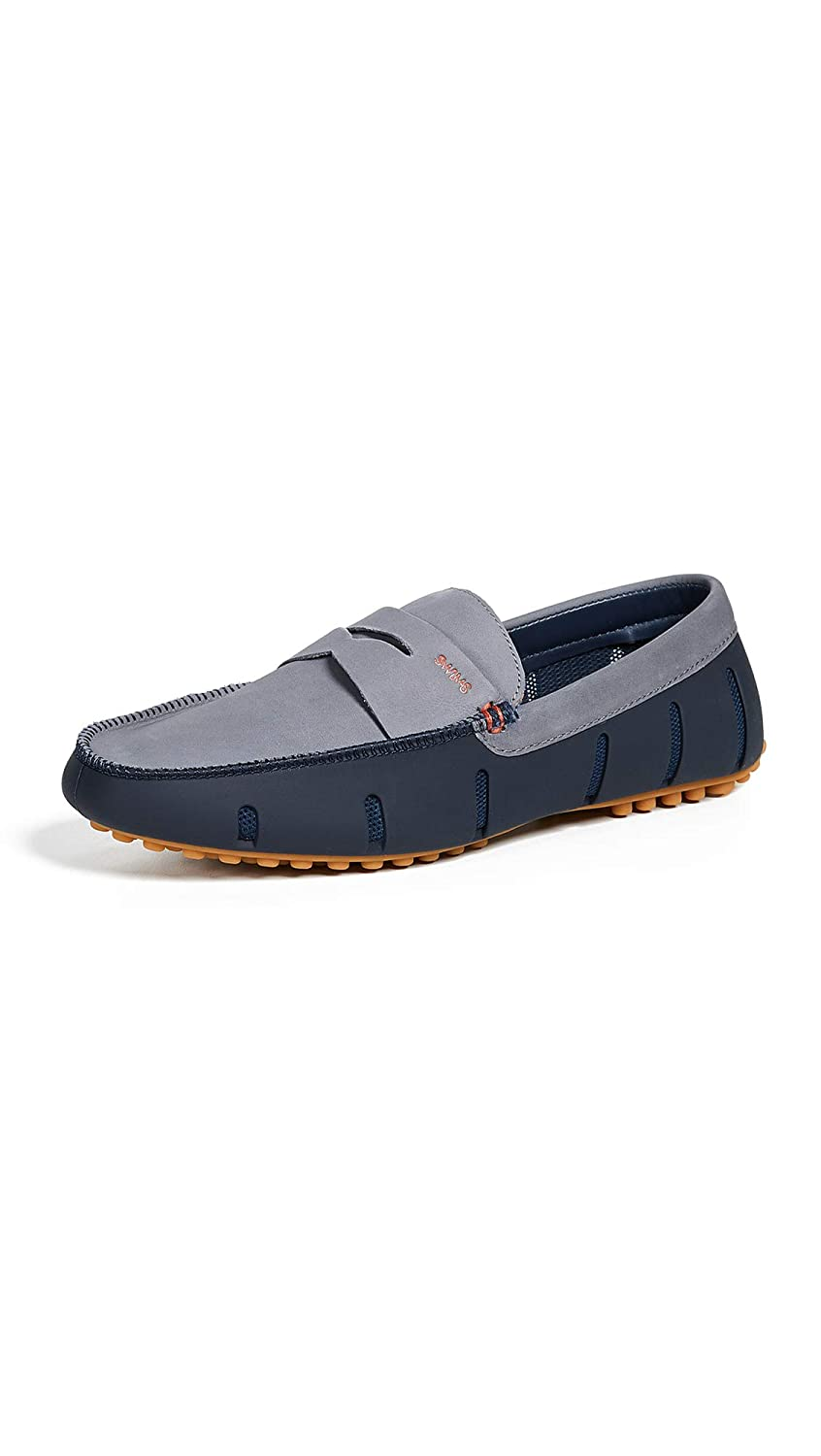 Navy Grey Gum Swims Men's Penny Luxe Loafer Drivers