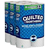 Quilted Northern Ultra Soft & Strong Toilet Paper, 24 Supreme Rolls, 24 = 92 Regular Rolls, Bath Tissue, 3 Packs of 8 Rolls