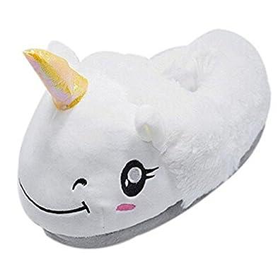 Rainbow Fox Fantasy Unicorn Soft Plush Slippers Slip On Adult Compatible  With European Size: 37