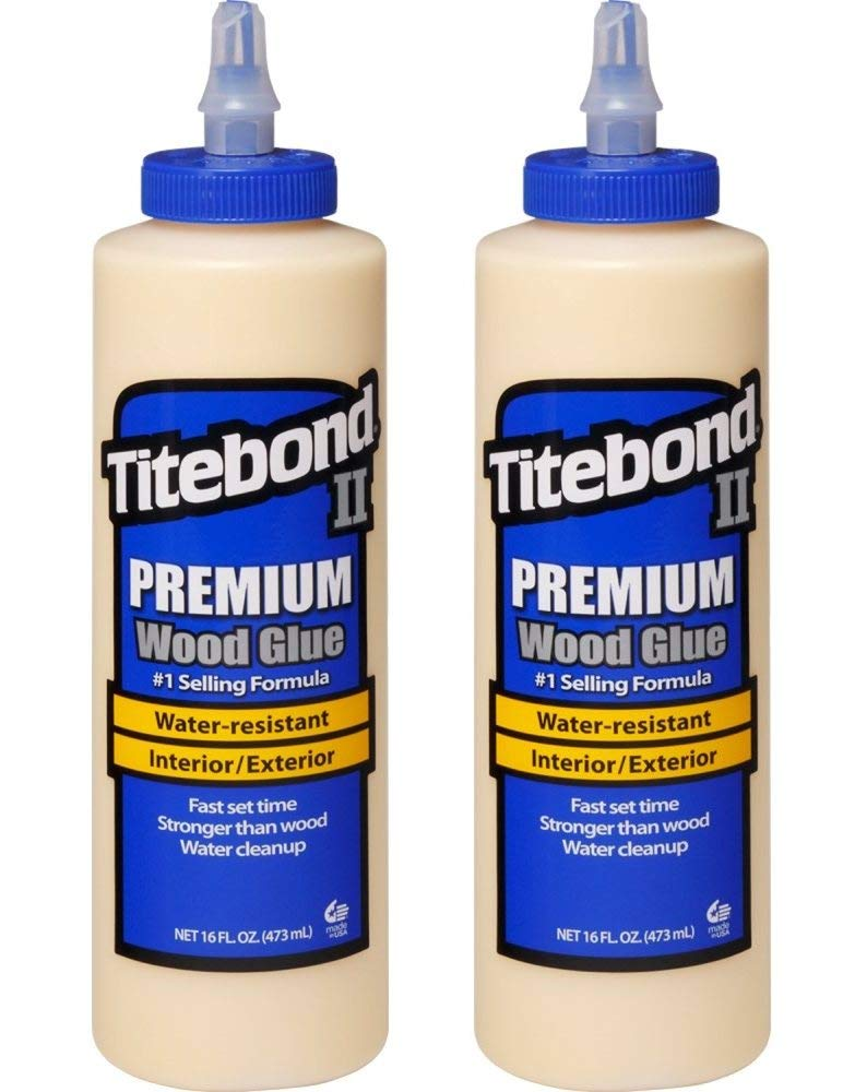 Titebond 5004 II Premium Wood Glue, 16-Ounces (Тwo Рack, Honey Cream)