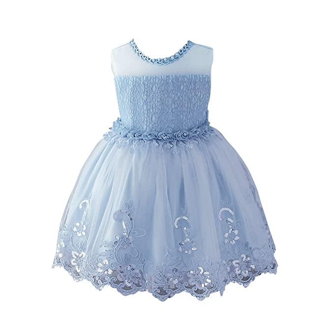 c96b573eef8 Weileenice 1-12T Big Little Girl Lace Tutu Dresses With Pearl Girls Flower  Dress