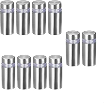 20x Glass Clamps Stainless Steel Clip 8-10mm Square Round Glass Bracket Holder