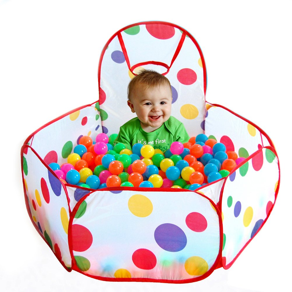 GreenSun TM Folding Kids Playpen Ocean Ball Game Pit Pool Portable Children Game Play Tent In/Outdoor Playing House Pool Pit