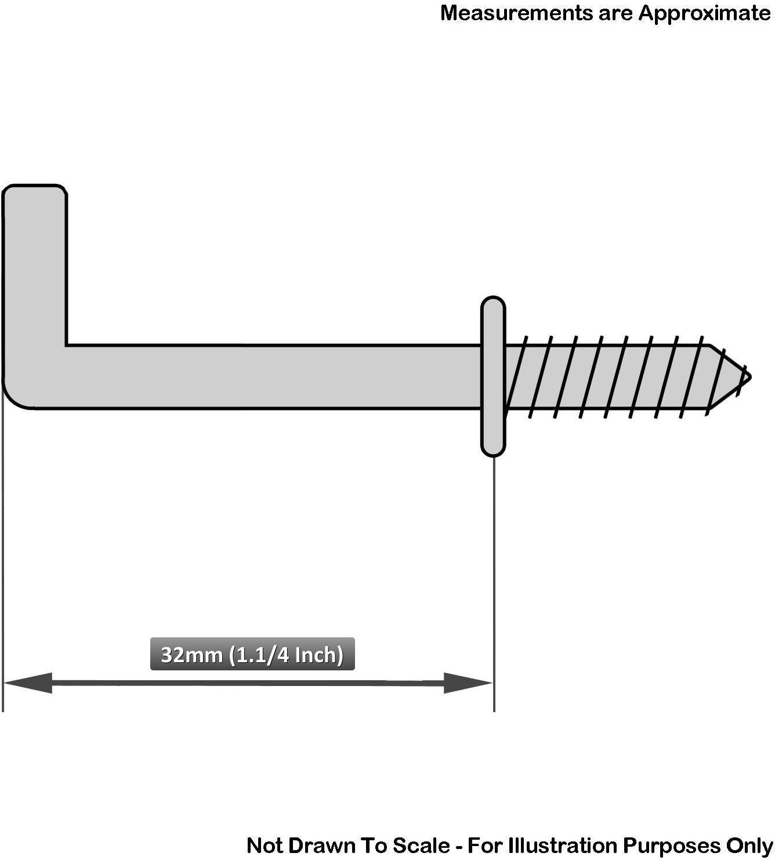 Dresser Screw In Haken 32mm an Schulter Gesamtl/änge 45Mm Eb Packung mit 50