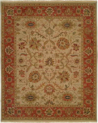 Kalaty SU-114 912 Soumak Area Rug, 9' x 12', Ivory/Rust for sale  Delivered anywhere in USA