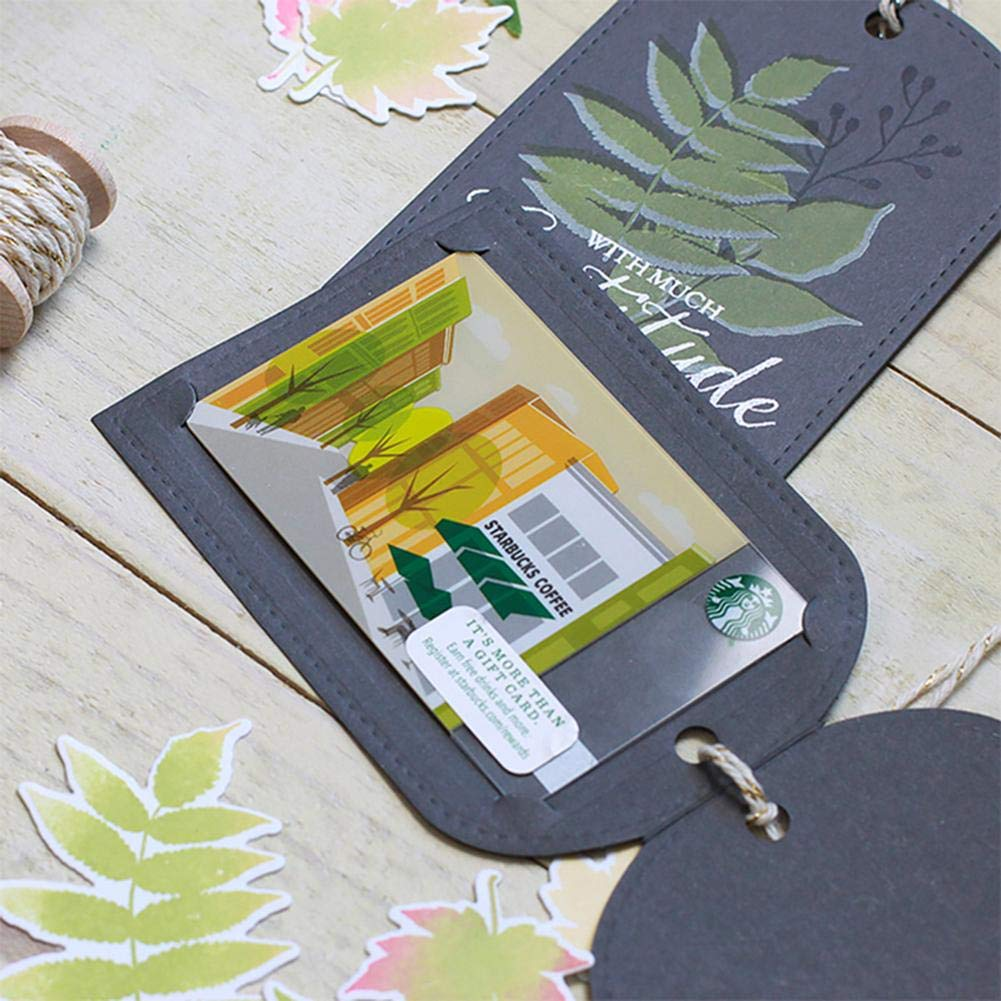 Prosperveil 4 Pieces Leaves Metal Cutting Dies Stencil Template for Card Making Scrapbooking Photo Album DIY Crafts Wedding Decoration
