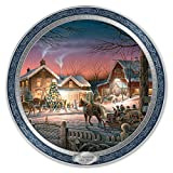 Terry Redlin 120th Anniversary Collector Plate: Trimming The Tree - By The Bradford Exchange