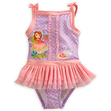 bd869a951c Amazon.com: Disney Sofia the First Deluxe Swimsuit for Girls: Clothing