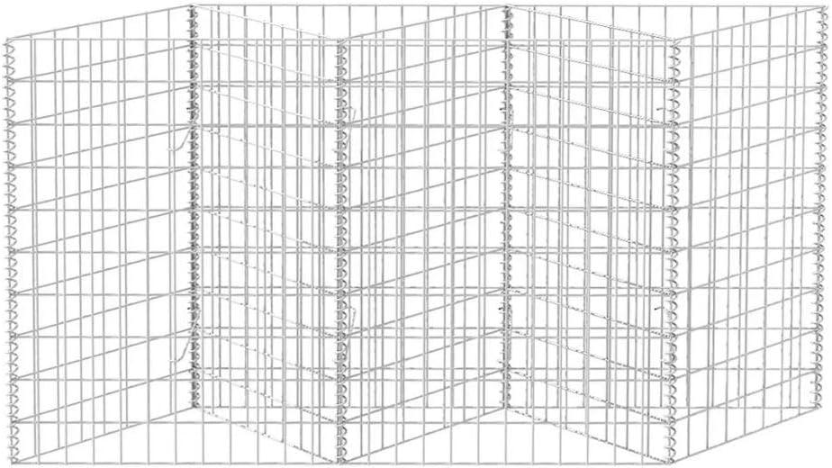 Nishore Gabionen Hochbeet aus Stahl Steinkorb-Pflanzk/übel 120/×30/×100 cm f/ür St/ützmauern Gartenzaun Gabionenwand Mauer S/äule verzinkt Hohe Belastbarkeit
