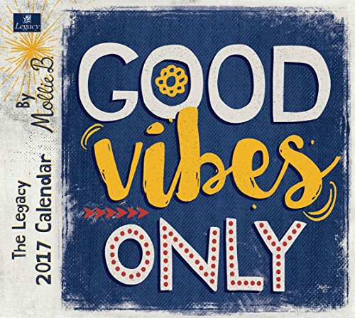 Legacy Publishing Group 2017 Wall Calendar, Good Vibes