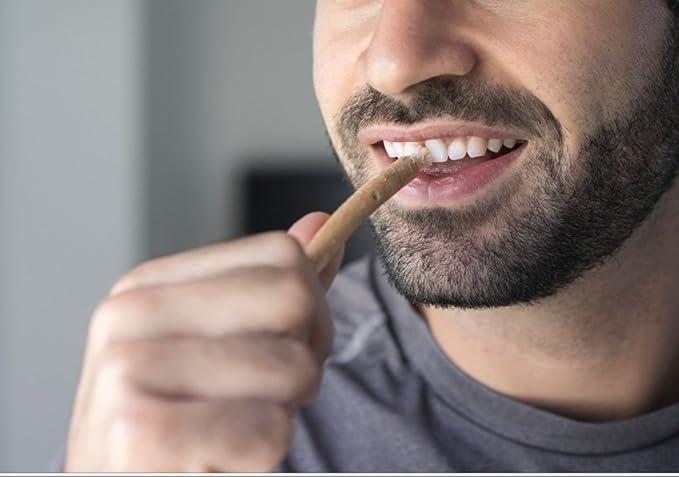 Cepillo de dientes Miswak - Siwak Swak, cepillo de dientes tradicional árabe, cepillo de dientes de madera, para dientes blancos naturales, 5pcs: Amazon.es: ...
