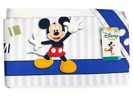 juego de sábanas Cochecito ratón Mickey Mouse ec0205wd 3 unidades turquesa