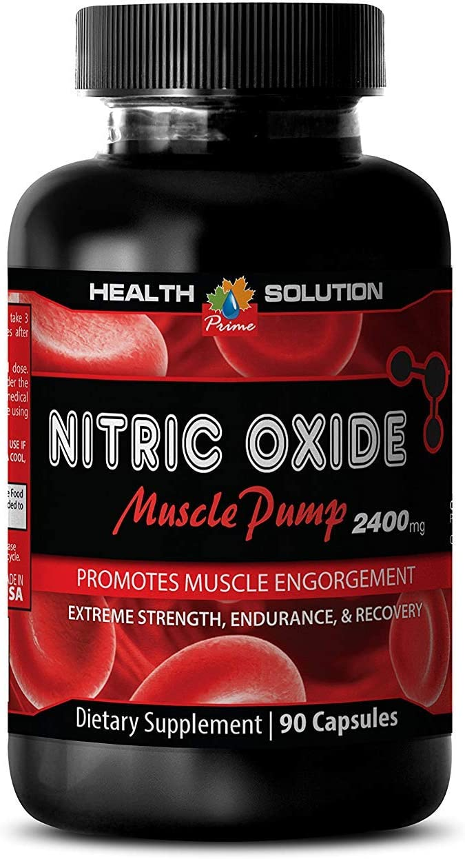 Nitric Oxide Supplement - Nitric Oxide Muscle Pump 2400MG - Boost libido (1 Bottle)