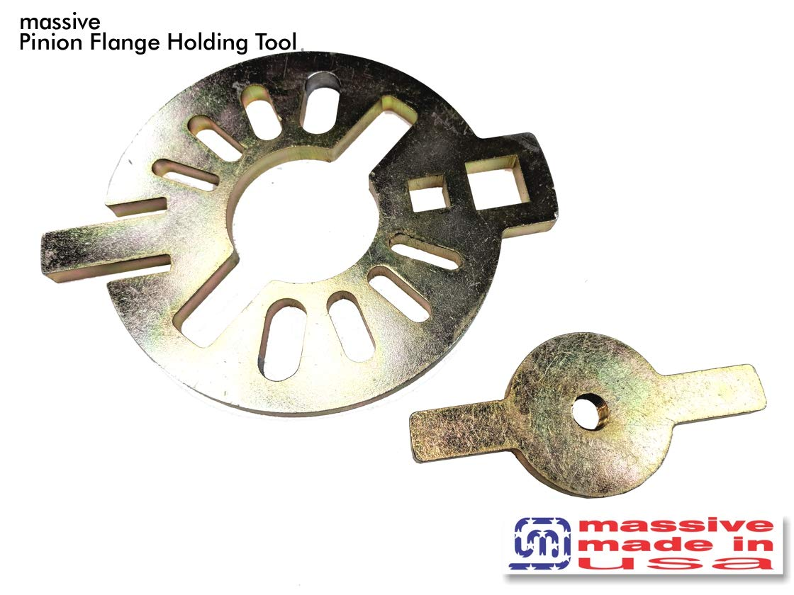 Massive Pinion Flange Holding Tool Holder Yoke Wrench Made USA Jeep Ring Rear End Axle Nut Seal 8.8 40 Dana 3/8\' Thick! Massive Speed System