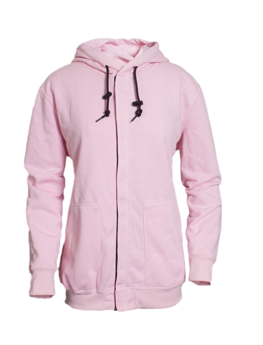 National Safety Apparel C21SA05WXL Women's FR Spirit Zip Up Sweatshirt, X-Large, Pink