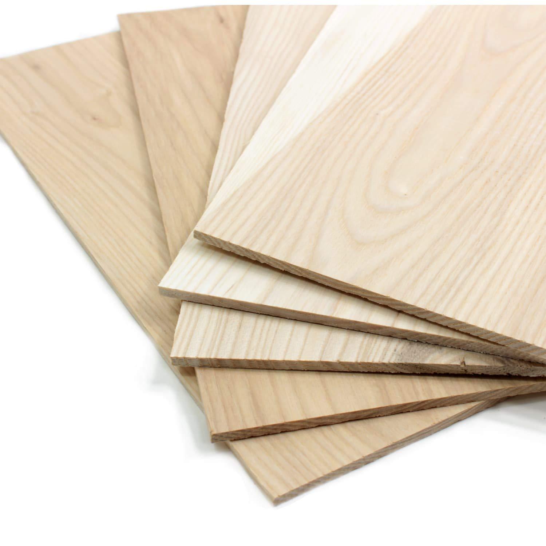 5er Set S/ägefurnier Bastelholz Platten Echtholz Holzfurnier zum Basteln Holzplatte Bastelset Modellbau DIY wodewa Holz Furnier Set 4mm Starkfurnier Mahagoni 30x14cm