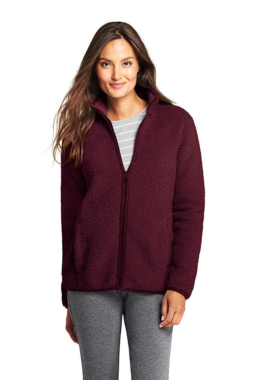 Deep Claret Lands' End Women's Cozy Sherpa Fleece Jacket