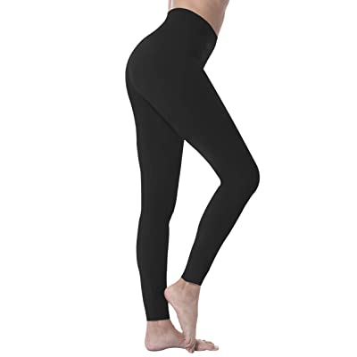 Natural Feelings High Waisted Leggings for Women Ultra Soft Stretch Opaque Slim Yoga Leggings One Size & Plus Size at Women's Clothing store