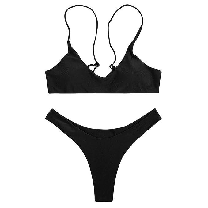 Amazon.com  COOCOl Women Push up Swimsuit Beach Wear Bandeau Micro Bikini  10 Colors  Clothing d23c6c5e705