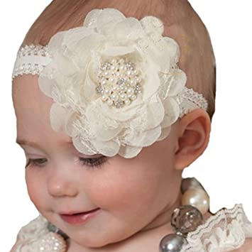 1//4X Toddler Girls Baby Headband Hair Band Lace Flower Accessories Headwear Gift