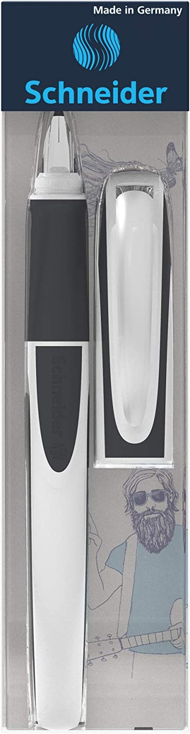 Ray Blue//Grey Schneider Fountain Pen 168403 for Left-Handers F/üllhalter L White//Grey Spring and Grip for Left-Handed L