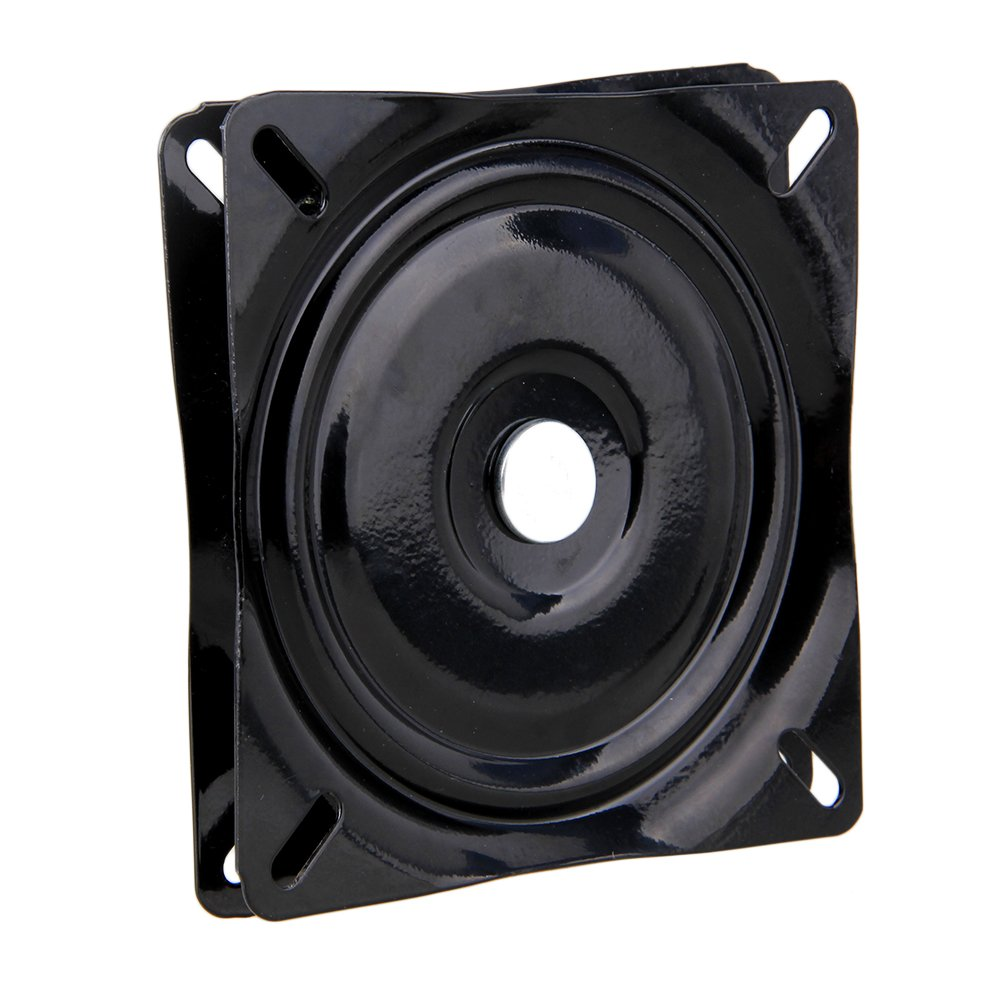 RDEXP A3 Steel Plate Black Square Swivel Turntable Ball Bearing (6 Inch)