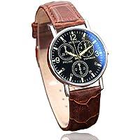 squarex Orologi per Uomo Vendita Business Classico Orologio Clearance, Sei Pin Orologio al Quarzo Orologio da Uomo Blu Vetro Belt Watch