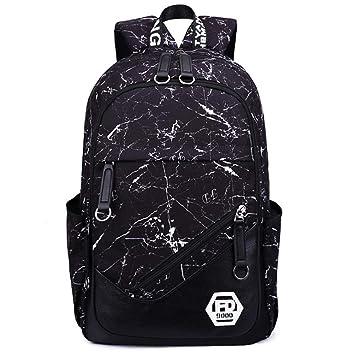 BBX Moda Casual School Mochila de Viaje del Ordenador portátil, se Adapta 17,3 Pulgadas portátil, Multifuncional Slim Ligero Impermeable Resistente al ...