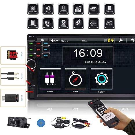EINCAR Bluetooth Car Auto Monitor de 7 Pulgadas Tarjeta GPS ...