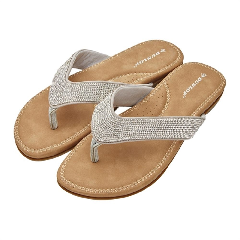 11408b78279 Avon Silver Toe Post Sandals - Flip Flops - Exclusively Designed by Dunlop  for UK Size 7 EUR 41  Amazon.co.uk  Shoes   Bags