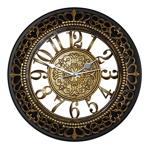 Retro Wall Clock Foxtop 12 Inch Silent Wall Clocks European-style Vintage  Retro Antique Royal Style Resin Wall Clock, Creative Home Living Room  Boutique ...