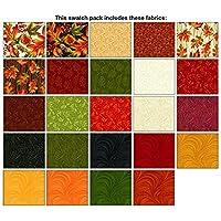 "Autumn Leaves~ Charm Pack 42, 5"" Cotton Squares -by Benartex"