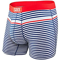 Saxx Vibe Boxer Modern Fit Bright Navy Hiker Stripe M