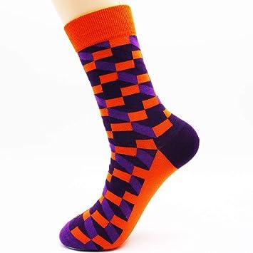 LILIKI@ Calcetines De Algodón Coloridos del Vestido Hombres De La Moda Hip-Funky Calcetines