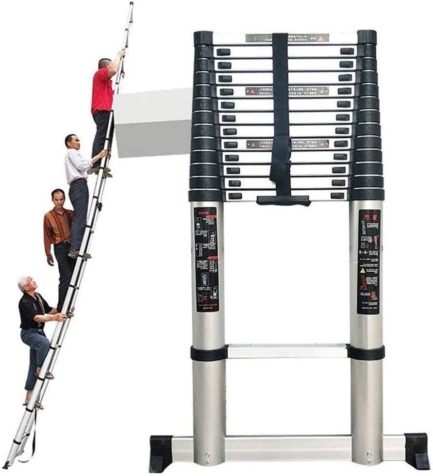 Escalera telescópica 4.6m / 5m / 5.4m / 6.2m / 6.6m / 7m Subida Casa Constructores Ático Desván Lugar de Trabajo Extensible Plegable Ligero Escalera de extensión: Amazon.es: Hogar
