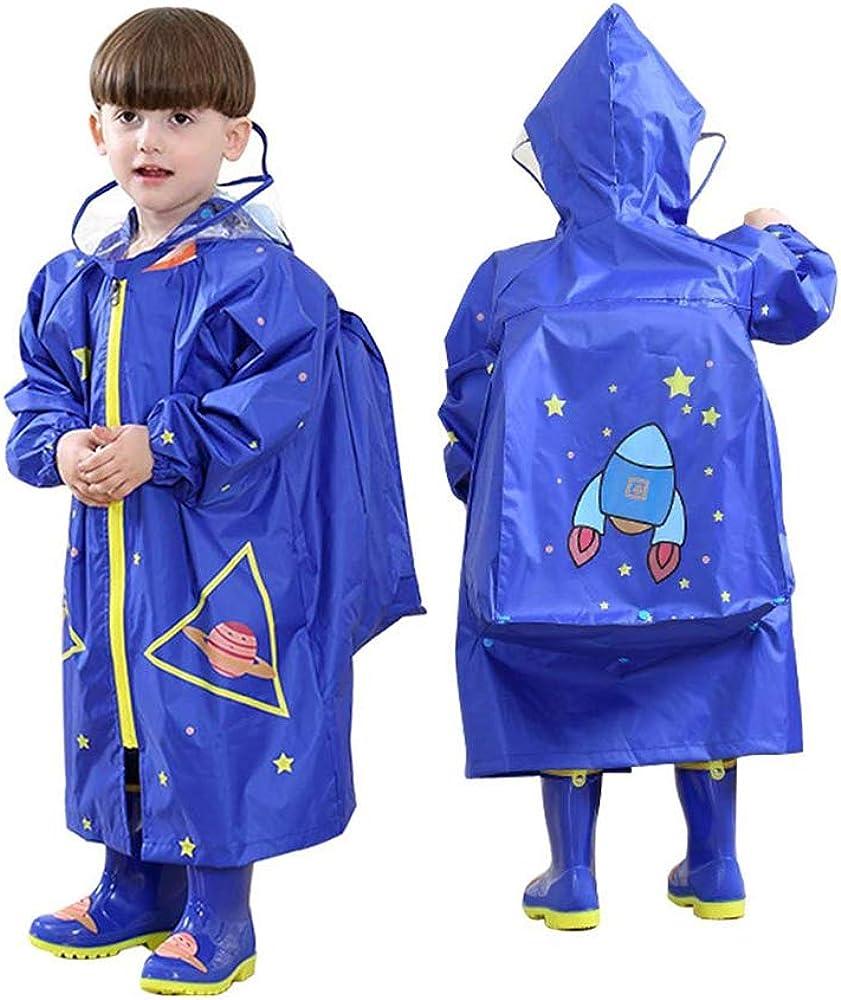 Cute Kids Raincoat Girls Boys Rainwear Children Waterproof Rain Coat Jacket