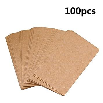 Merssavo 100 Pcs Blank Kraftpapier Papier Visitenkarten Wort