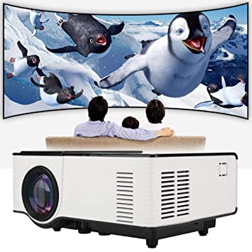 Rosvola Mini proyector 3D, VS314 HD LED Cinema Beamer Soporte ...