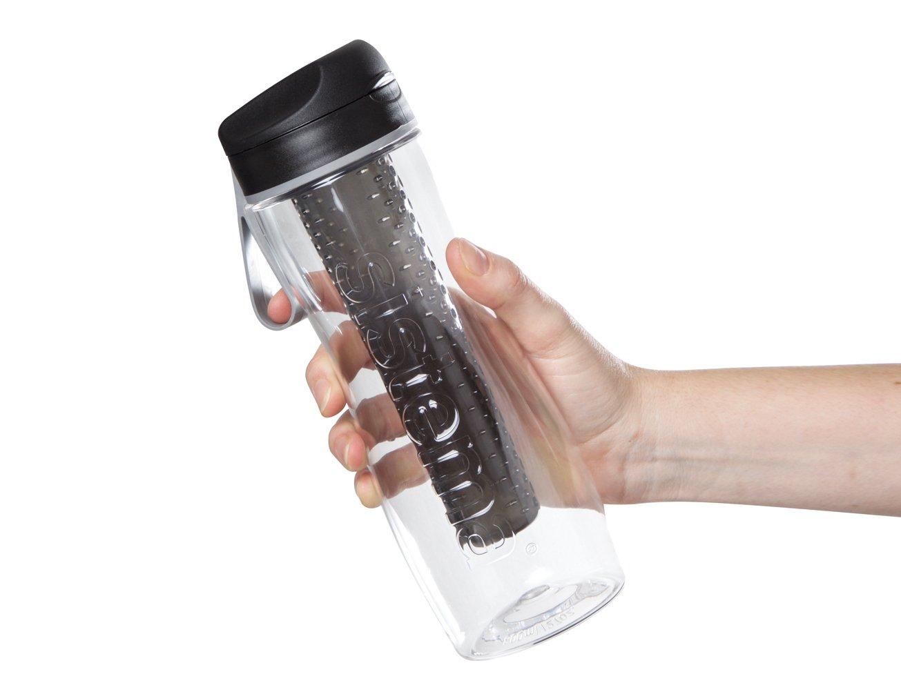 con infusor de frutas 800 ml 9.5 x 8.1 x 23.5 cm Sistema Hidrato Tritan/ /Botella Negro