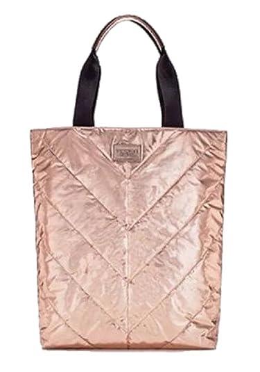 Amazon.com  Victoria s Secret Tote Bag Rose Gold Metallic Limited Edition  luggage travel  Shoes eb7ed7dc68fce