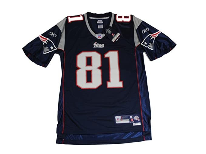 Amazon.com  Reebok Randy Moss Navy NFL Premier New England Patriots ... 350aebb34