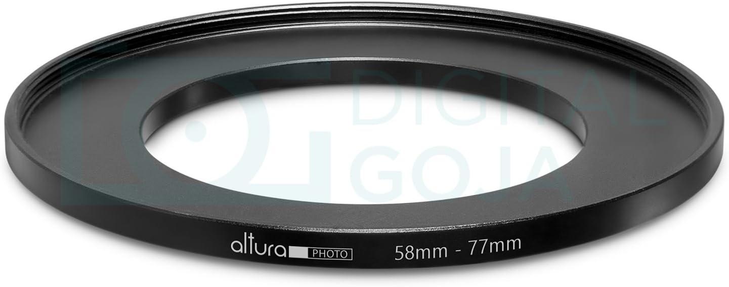 58mm A 77mm 58mm-77mm Stepping intensificar filtro anillo adaptador