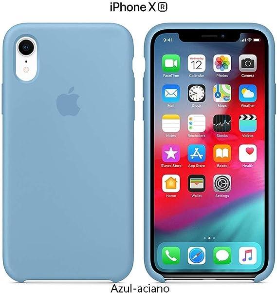 Image of Funda Silicona para iPhone XR Silicone Case, Calidad, Textura Suave, Forro Interno Microfibra (Azul-Aciano)