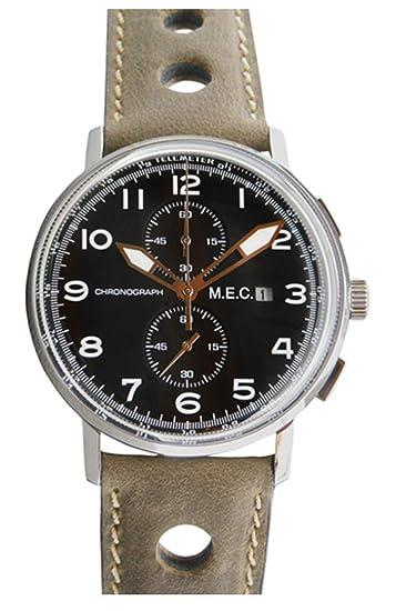 Reloj hombre Vintage Cronógrafo mec cuarzo militar acero sumergible nuevo regalo: Amazon.es: Relojes