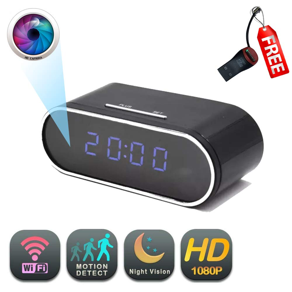 Amazon.com : WiFi Clock Camera | GEAGLE 1080P HD WiFi Clock Hidden Spy Camera | External Memory | Motion Detection | Night Vision | Live Video | P2P/ WiFi ...