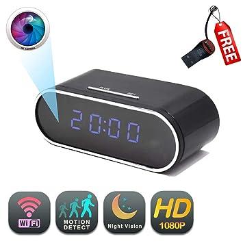 Amazon.com: Cámara WiFi de reloj GEAGLE 1080P HD WiFi reloj ...