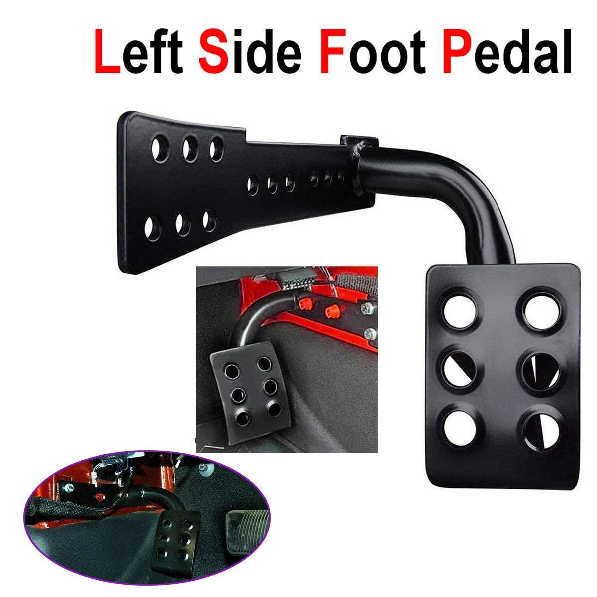 Metermall Poggiapiedi Metal Dead Pedal Left Side Poggiapiedi a Pedale per 2007-2017 Jeep Wrangler JK