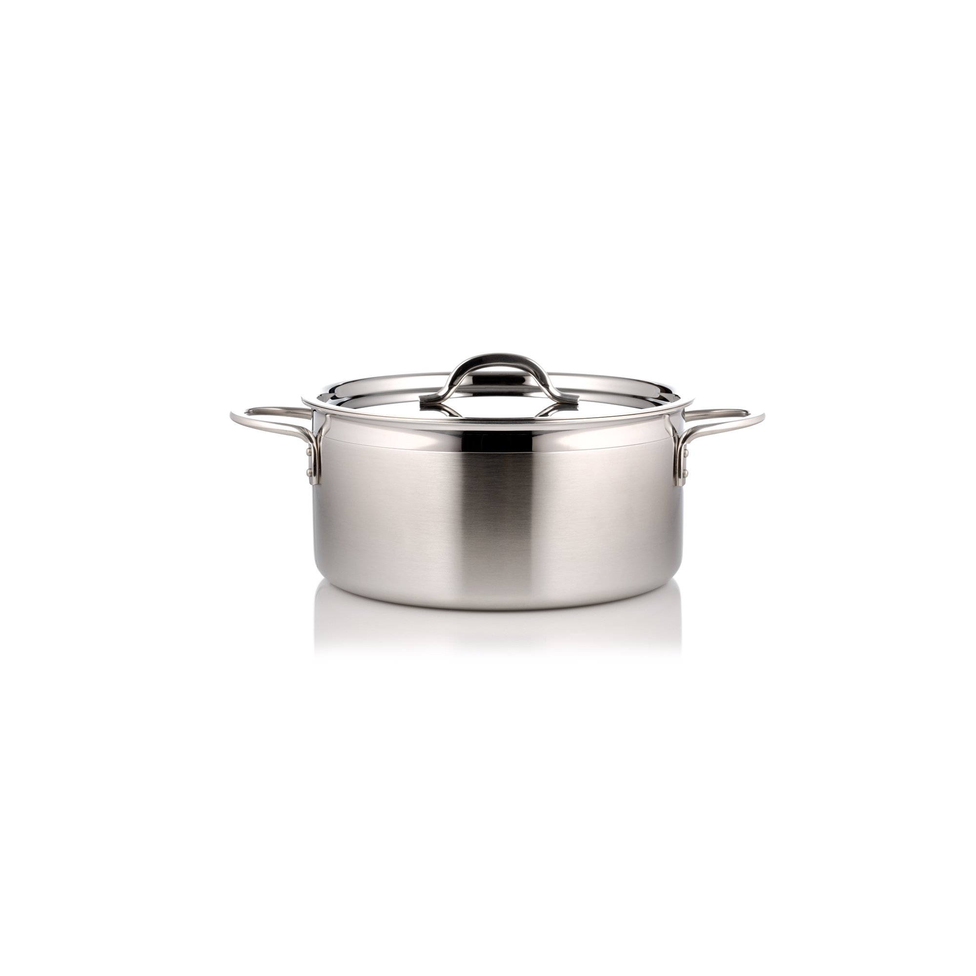 Bon Chef 60300-2ToneSS Country French Two Tone, 2.3 quart Pot with Cover, Stainless Steel